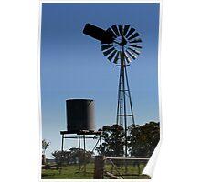 Windmill & tank Poster