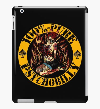 Psychobilly Girl - yellow iPad Case/Skin