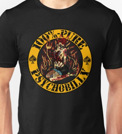 Psychobilly Girl - yellow Unisex T-Shirt