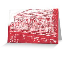 house of cards (red) Greeting Card