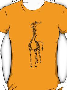 cute happy fun giraffe T-Shirt