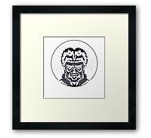 The Striped Man Inverse Framed Print