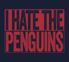 I Hate The Penguins - Washington Capitals T-Shirt - Show Your Team Spirit - Red Box Design - Haters Gonna Hate by BeefShirts