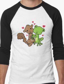 Frog and Squirrel Love Men's Baseball ¾ T-Shirt