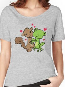 Frog and Squirrel Love Women's Relaxed Fit T-Shirt