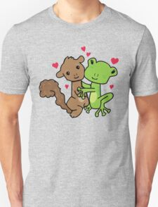 Frog and Squirrel Love Unisex T-Shirt