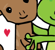 Frog and Squirrel Love Sticker