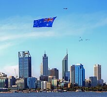 Flying The Flag - Perth WA - Australia Day 2015 - HDR by Colin  Williams Photography