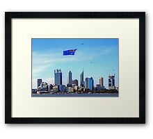 Flying The Flag - Perth WA - Australia Day 2015 - HDR Framed Print