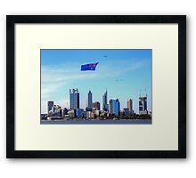 Flying The Flag - Perth WA - Australia Day 2015 - HDR Framed Print