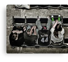 Chillin' At The Ball Game Canvas Print