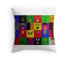 Minimalist Superhero Poster Throw Pillow