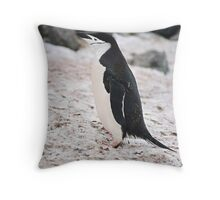"Chinstrap Penguin ""Pygoscelis antarcticus"" Throw Pillow"