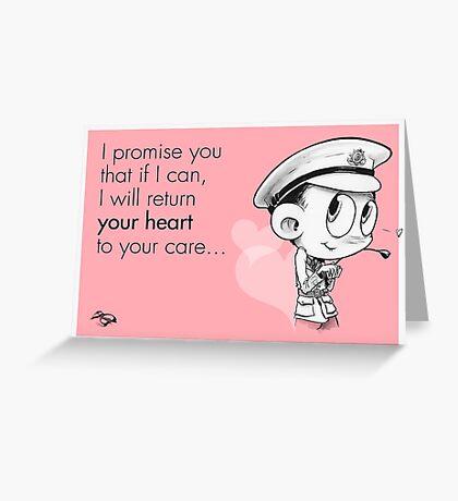 Valentine's  Little Captain Nicholls Greeting Card