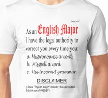 English Major Unisex T-Shirt