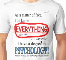 Psychology Degree Unisex T-Shirt