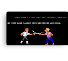 Guybrush - Insult Swordfighting Canvas Print