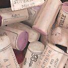 Corks II Print by cathy savels