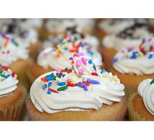Sprinkled Cupcakes Photographic Print