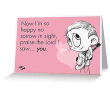 Valentine's  Little Hank Williams Greeting Card