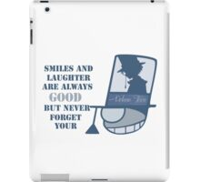 Never forget you poker face iPad Case/Skin