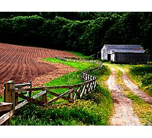 """""""Fence lines, Farms, and Furrows""""   Photographic Print"""