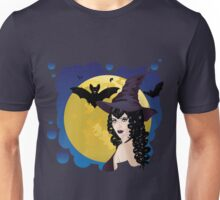 Witch and Bats 2 Unisex T-Shirt