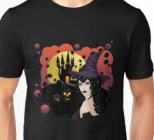 Witch with Black Hair Unisex T-Shirt
