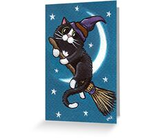 Broomstick Ride Greeting Card