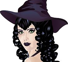 Witch with Black Hair 3 by AnnArtshock