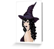 Witch with Black Hair 3 Greeting Card