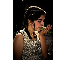 Kissing a Frog Photographic Print