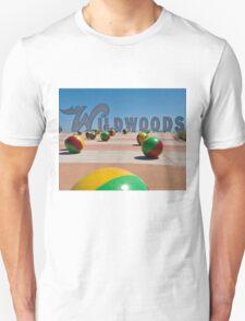 Wildwoods Sign on the Boardwalk in Wildwood, New Jersey T-Shirt