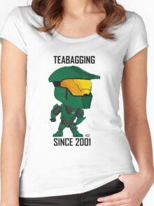 TEABAGGING SINCE 2001 Women's Fitted Scoop T-Shirt
