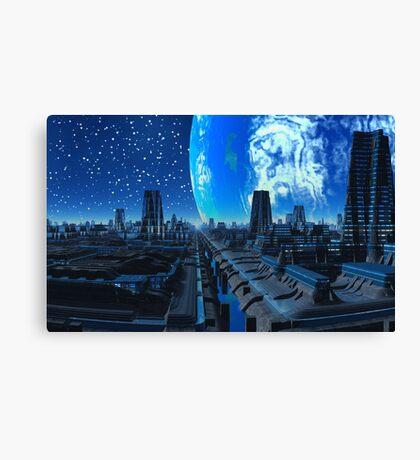 City in Flight Canvas Print
