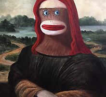 Monkey Lisa by Randy  Burns