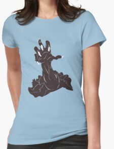 Zombie Hand Womens Fitted T-Shirt