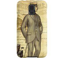 Travel diary man Samsung Galaxy Case/Skin