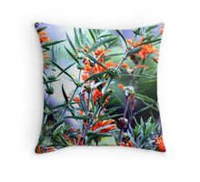 Incredible Orange Flowers Throw Pillow