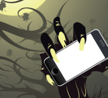 Zombie Hand with Phone Sticker