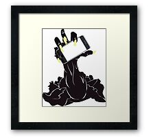 Zombie Hand with Phone 2 Framed Print