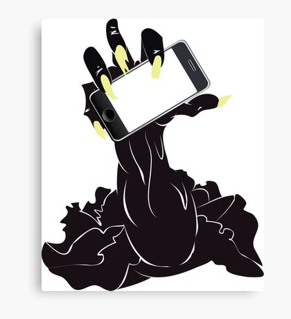 Zombie Hand with Phone 2 Canvas Print