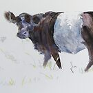 Belted Galloway Cow Painting by MikeJory