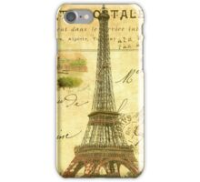 Travel diary Eiffel Tower iPhone Case/Skin