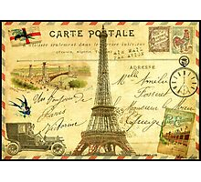 Travel diary Eiffel Tower Photographic Print