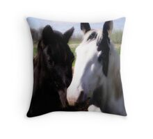 Black & white in love Throw Pillow