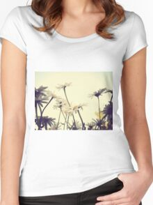 Summer Chamomiles 4 Women's Fitted Scoop T-Shirt