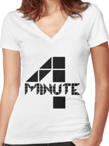 4minute Women's Fitted V-Neck T-Shirt