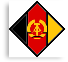 Roundel of the Air Force of German Democratic Republic, 1956-1990 Canvas Print