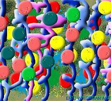 (MONTANA BALLS) ERIC WHITEMAN  ART  by eric  whiteman